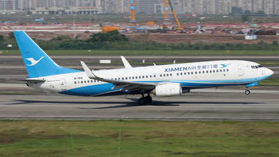A picture of B1912 - Boeing 73785C - Xiamen Air - © YIJING HOU
