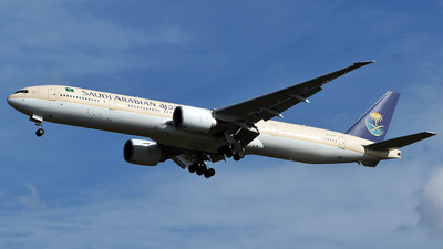 A picture of HZAK11 - Boeing 777368(ER) - Saudia - © Bernard Effendy