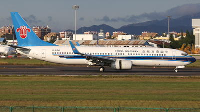 A picture of B5190 - Boeing 73781B - China Southern Airlines - © SEN BAI