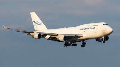 A picture of OOACE - Boeing 747412(BCF) - Challenge Airlines - © John Richard