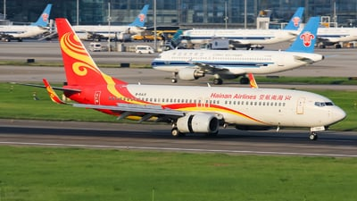 A picture of B5418 - Boeing 73786N - Hainan Airlines - © Lywings