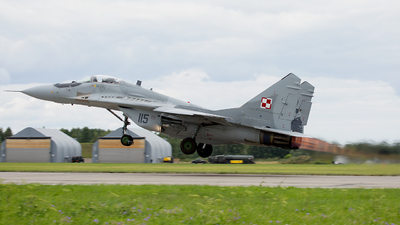 115 - Mikoyan-Gurevich MiG-29A Fulcrum - Poland - Air Force