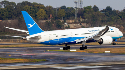 A picture of B2760 - Boeing 7878 Dreamliner - Xiamen Air - © SINO6702