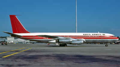 G-AYXR - Boeing 707-321(F) - Kenya Airways (British Midland)