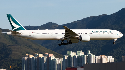 A picture of BKQV - Boeing 777367(ER) - Cathay Pacific - © Hong Kong Aviation - Skies of Pearl