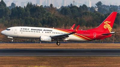 A picture of B5378 - Boeing 7378AL - Shenzhen Airlines - © Paidaxin