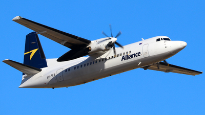 A picture of VHFKX - Fokker 50 - Alliance Airlines - © Robbie Mathieson