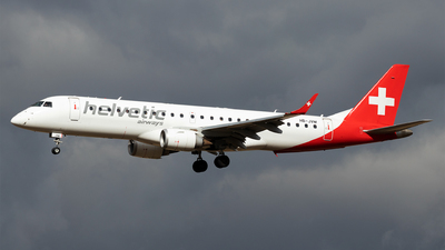 A picture of HBJVM - Embraer E190LR - Helvetic Airways - © Moritz Babl