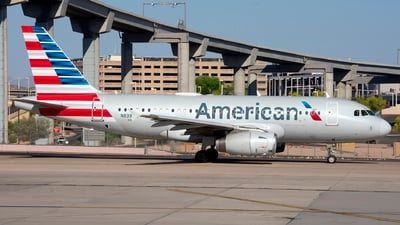 A picture of N839AW - Airbus A319132 - American Airlines - © Michael Rodeback