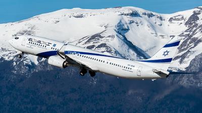 A picture of 4XEHE - Boeing 737958(ER) - El Al - © Joe Masui