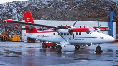 OY-POF - De Havilland Canada DHC-6-300 Twin Otter - GLACE - Greenlandair Charter