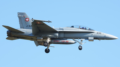 J-5233 - McDonnell Douglas F/A-18D Hornet - Switzerland - Air Force