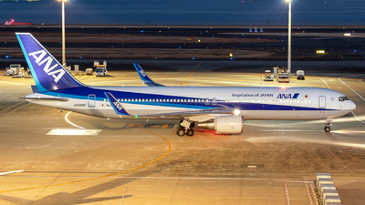 A picture of JA620A - Boeing 767381(ER) - All Nippon Airways - © Yukemaro