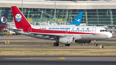 A picture of B6445 - Airbus A319133 - Sichuan Airlines - © Eric Wang