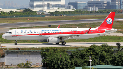 A picture of B304J - Airbus A321231 - Sichuan Airlines - © Wanping Chen