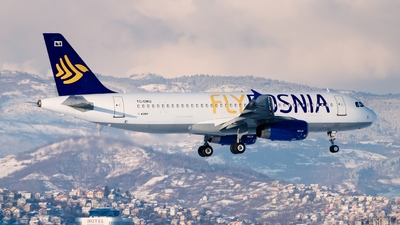 A picture of TCOBU - Airbus A320232 - FlyBosnia - © @approach.sarajevo