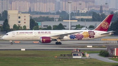 A picture of B1115 - Boeing 7879 Dreamliner - Juneyao Airlines - © Eric Wang
