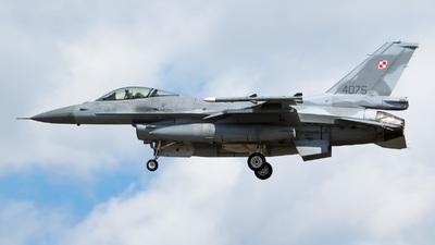 4075 - Lockheed Martin F-16C Fighting Falcon - Poland - Air Force
