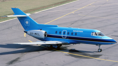 OY-MCL - British Aerospace BAe 125-800A - Maersk Air
