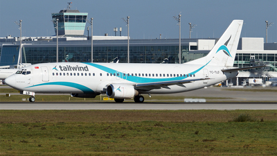 A picture of TCTLD - Boeing 7374Q8 - Tailwind Airlines - © Hugo Schwarzer