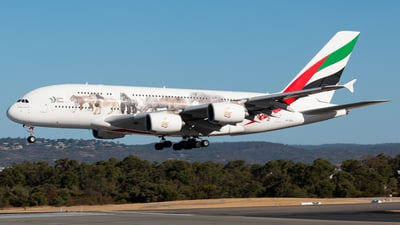A picture of A6EEQ - Airbus A380861 - Emirates - © Joel Baverstock