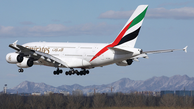 A picture of A6EDW - Airbus A380861 - Emirates - © Liu Yonggang
