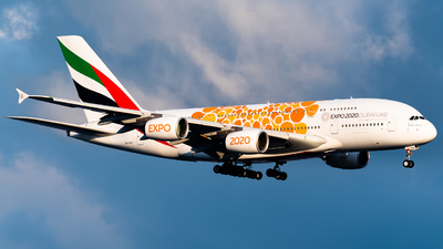 A picture of A6EOV - Airbus A380861 - Emirates - © Ka Hung Yue