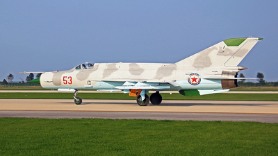 53 - Mikoyan-Gurevich MiG-21 Fishbed - North Korea - Air Force