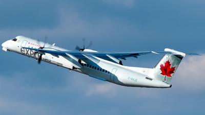 A picture of CGVJZ - De Havilland Canada Dash 8400 - Air Canada - © Derek MacPherson