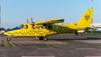 A picture of HBLUA - Partenavia P68C - Swiss Flight Services - © J.Evrard-AirTeamImages