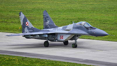 114 - Mikoyan-Gurevich MiG-29A Fulcrum - Poland - Air Force
