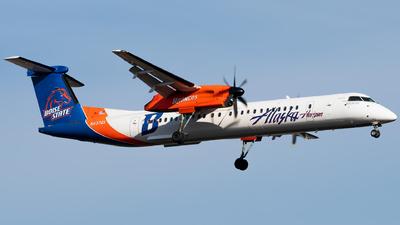 A picture of N437QX - De Havilland Canada Dash 8400 - Alaska Airlines - © Logan m