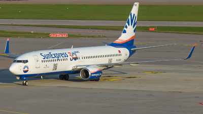 A picture of TCSOO - Boeing 7378AS - SunExpress - © Justin Stöckel
