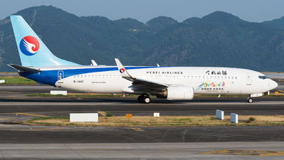 A picture of B1447 - Boeing 7378LW - Hebei Airlines - © Mr.Huang