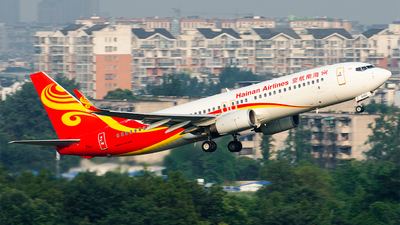 A picture of B5483 - Boeing 73784P - Hainan Airlines - © Marcus Yu