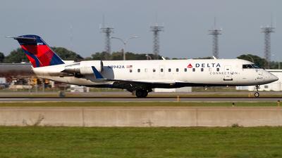 A picture of N8942A - Mitsubishi CRJ200LR - Delta Air Lines - © Jeremy D. Dando