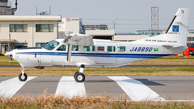 JA8890 - Cessna 208 Caravan - Asia Air Survey