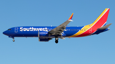 A picture of N8708Q - Boeing 737 MAX 8 - Southwest Airlines - © Sandra