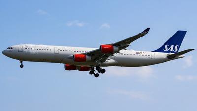 OY-KBA - Airbus A340-313X - Scandinavian Airlines (SAS)