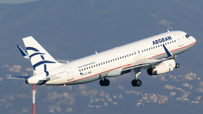 A picture of SXDNE - Airbus A320232 - Aegean Airlines - © George Chaidaris