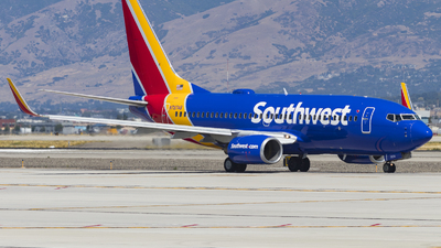 A picture of N7874B - Boeing 7377Q8 - Southwest Airlines - © David Lee