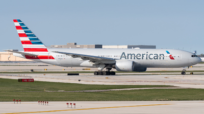 A picture of N754AN - Boeing 777223(ER) - American Airlines - © bill wang
