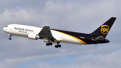 A picture of N374UP - Boeing 767300F(ER) - UPS Airlines - © Brady Noble