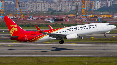 A picture of B5612 - Boeing 73787L - Shenzhen Airlines - © ZUCKGYQ