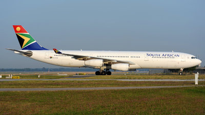 ZS-SXH - Airbus A340-313X - South African Airways