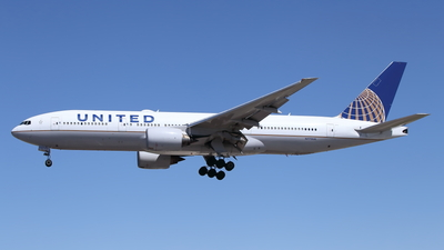 A picture of N772UA - Boeing 777222 - United Airlines - © John Marzo