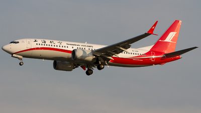 A picture of B1149 - Boeing 737 MAX 8 - Shanghai Airlines - © Indy Udol