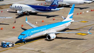 A picture of LVHKV - Boeing 737 MAX 8 - Aerolineas Argentinas - © Fernando Ariel Torre