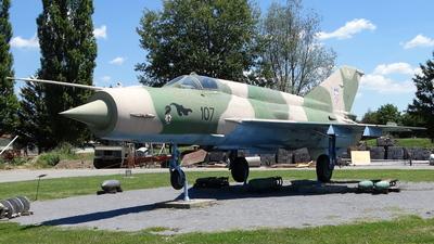 107 - Mikoyan-Gurevich MiG-21bis Fishbed L - Croatia - Air Force