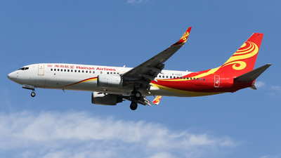 A picture of B5337 - Boeing 73784P - Hainan Airlines - © ceci wong